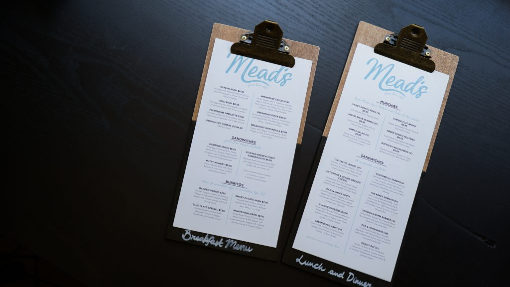 cloud kitchen menu